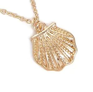 NEW! Gold Seashell Pendant Necklace